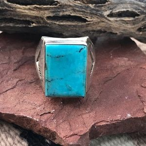 Jewelry - Navajo Sterling Silver Turquoise Ring Sz 11.5